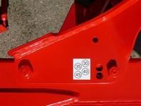 Záběr orebních těles je z montáže standardně nastaven na 350 mm.